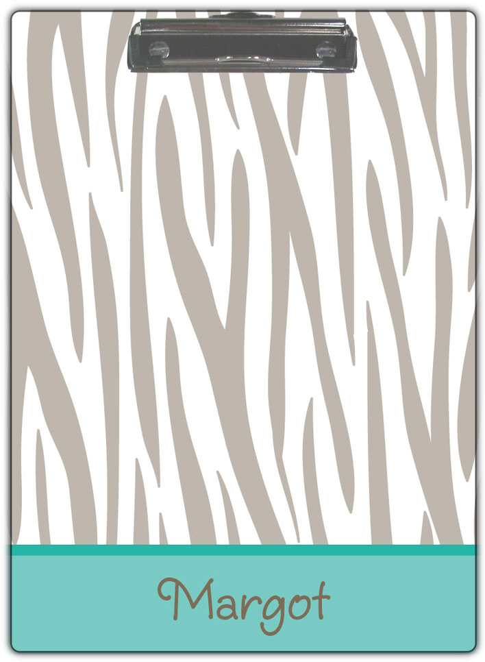 Grey Zebra Clipboard