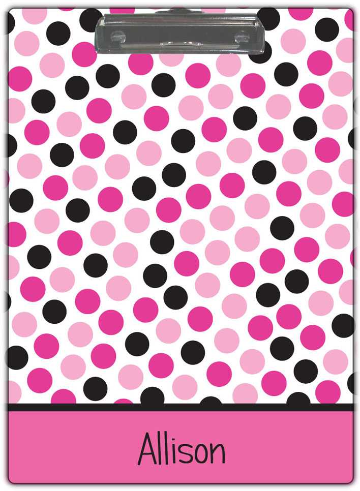 Pink Dots Clipboard