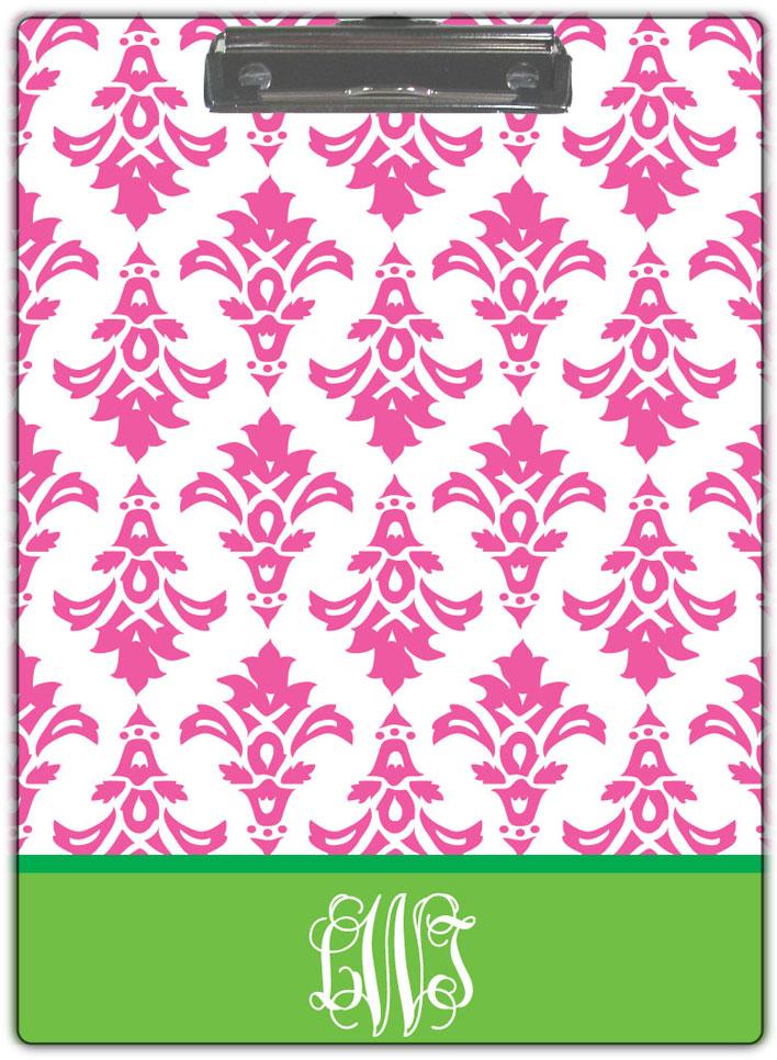 Pink-Damask