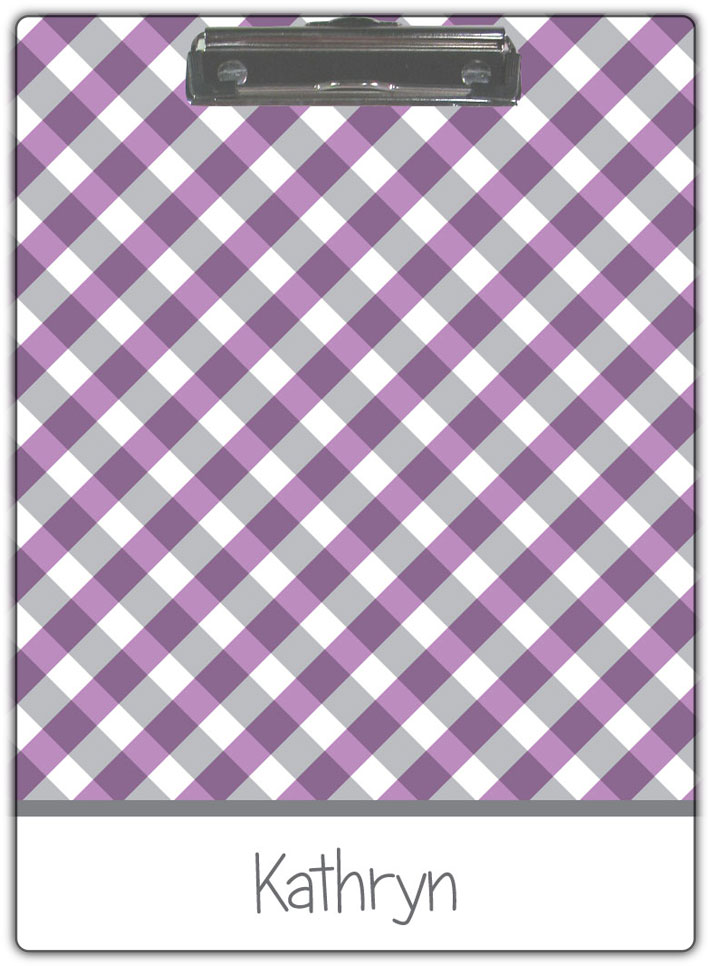 Purple-Gingham