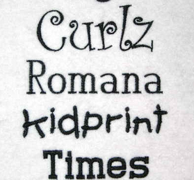 Castle Embroidery Fonts