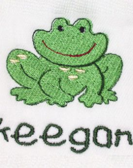 Boy Burp cloth with frog