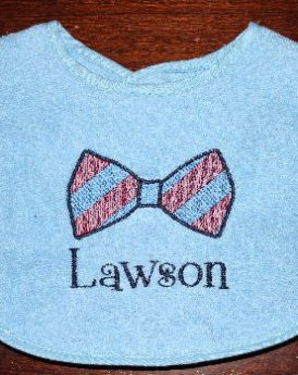 Bib Blue Bow Tie Stripe