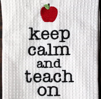 Teacher Dishtowel - Keep Calm & Teach On