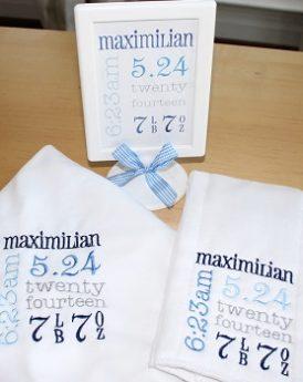 Birth Announcement Gift Set Boy