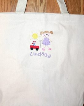 Sibling Canvas Tote