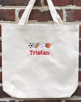 Sports Canvas Tote