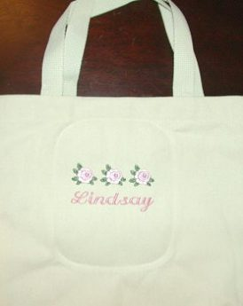 Three Roses Canvas Tote