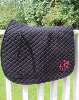 Monogrammed Saddle Pad