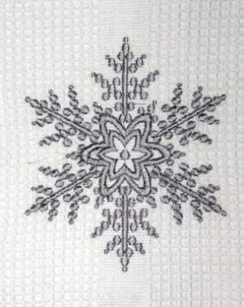 Dishtowel Snowflake Silver