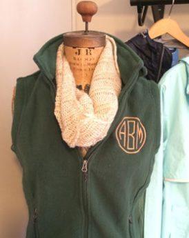 Monogrammed Fleece Vest - Example