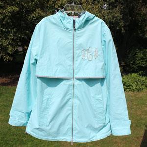 Monogrammed Rain Jacket - Example